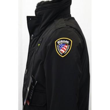 Blauer Piumino corto con pelliccia staccabile al collo  modello poliziotto - (A/I)
