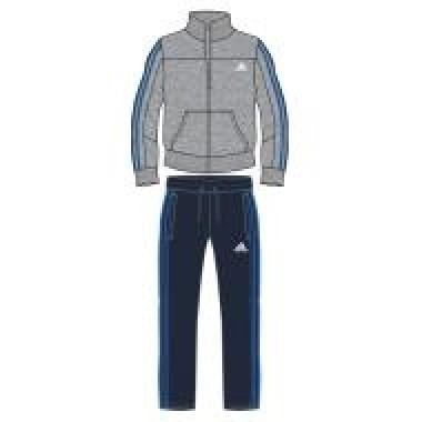 Tuta felpa Adidas zip lunga pantalone dritto - (A/I)