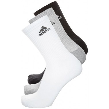 Adidas 3 paia di calze basse (Bianco/Nero/Grigio) - (A/I)