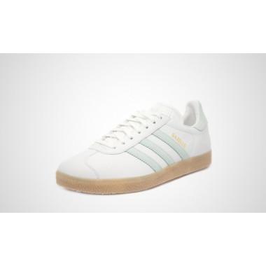 Adidas gazelle scarpa tempo libero bianco/verde chiaro - (P/E)