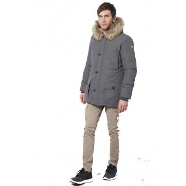 PickWick PARKA uomo  con cappuccio e pelliccia staccabile - (A/I)