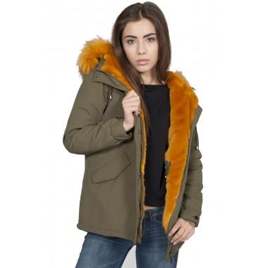 PickWick PARKA donna  con cappuccio e pelliccia staccabile - (A/I)