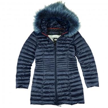 PickWick Piumino lungo con cappuccio e pelliccia staccabile - (A/I)