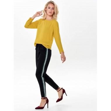 pantalone con banda laterale nero verde modello poptrash - (A/I)