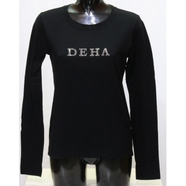 T-shirt manica lunga con scritta Deha