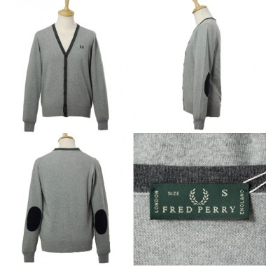 FRED PERRY CARDIGAN IN LANA E BOTTONI - (A/I)