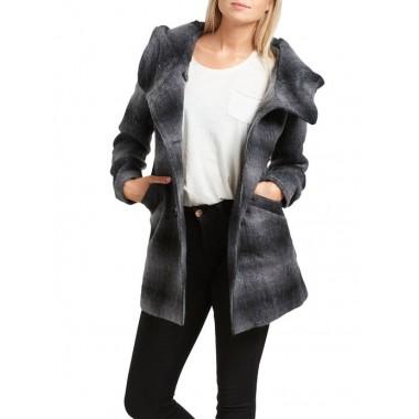Only cappotto in lana con cappuccio mod.IDEA