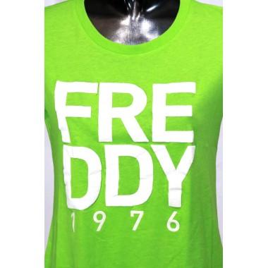 T-shirt maezzamanica con stampa Freddy