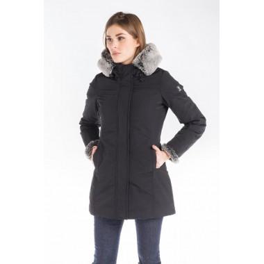 Refrigue Giaccone in cordura con cappuccio e pelliccia staccabile mod. SVIT
