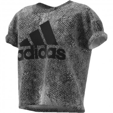 adidas  t-shirt giro collo con logo mos. ess