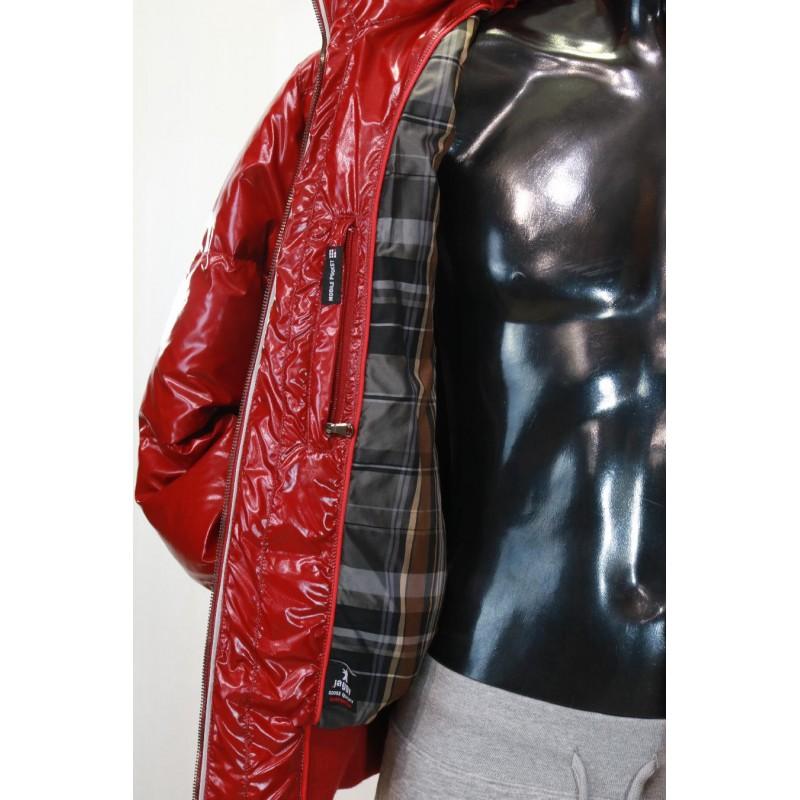 best website 4e9d6 3413a Jaggy piumino lucido interno con tessuto scozzese